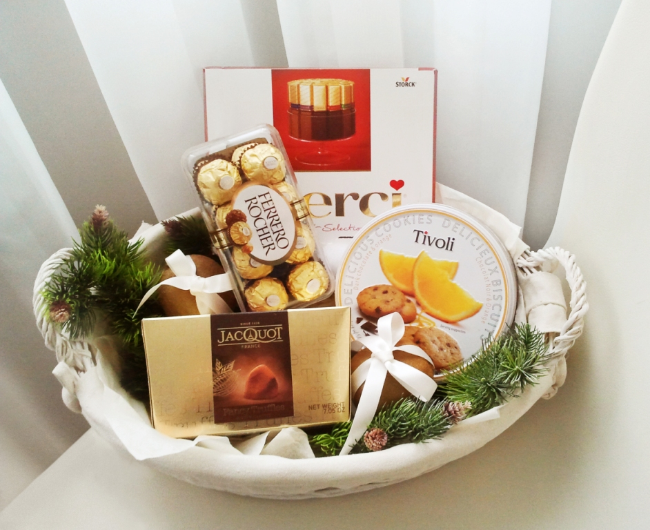 Подарки корзины партнерам на новый год 2015