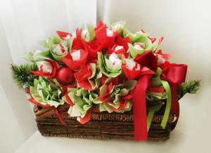 букет из конфет, подарок, новый год, доставка по киеву