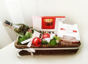 подарочная корзина, подарок, подарок на Новый год, Новый год