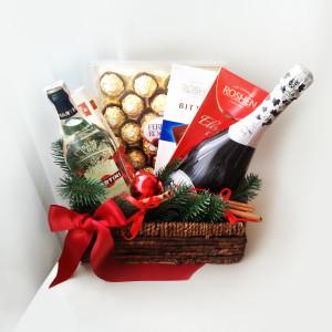 подарочная корзина, подарки на новый год, новый год