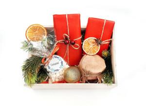 подарочный набор на Новый год с какао