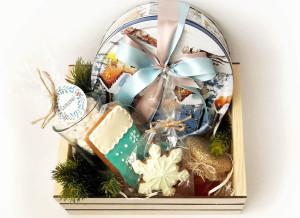 подарочный набор на Новый год с пряниками, сладкие подарки на Новый год, новогодние подарки, сладкие подарки с доставкой