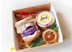 Подарочный набор с медом, корпоративные подарки, подарочные наборы на Новый год, на 8 марта, на день рождения