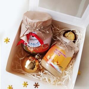 подарочный набор с арахисовой пастой, подарочный набор с шоколадной пастой в Киеве доставка по Украине