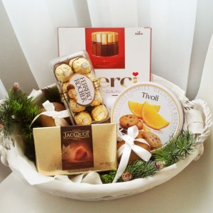 подарки на новый год, подарочная корзина, новый год