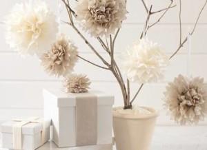 бумажный декор, бумажные помпоны, праздник, оформление