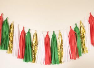 бумажный декор, бумажные украшения, новый год