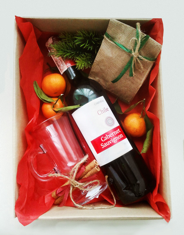 подарочный набор для глинтвейна, подарок, новый год