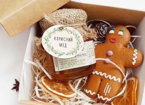 подарочный набор, подарочный набор с медом, подарочный набор с пряниками