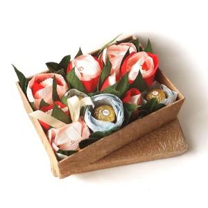букет из конфет на 8 марта, букет из конфет на день рождения