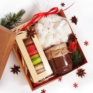 подарочный набор с какао и маршмеллоу, доставка по Киеву, доставка по Украине