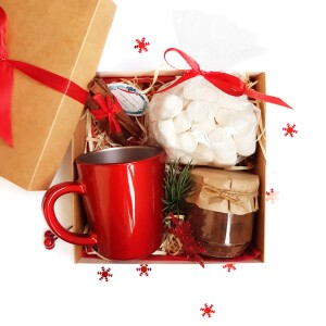 подарочный набор с какао и маршмеллоу на новый год